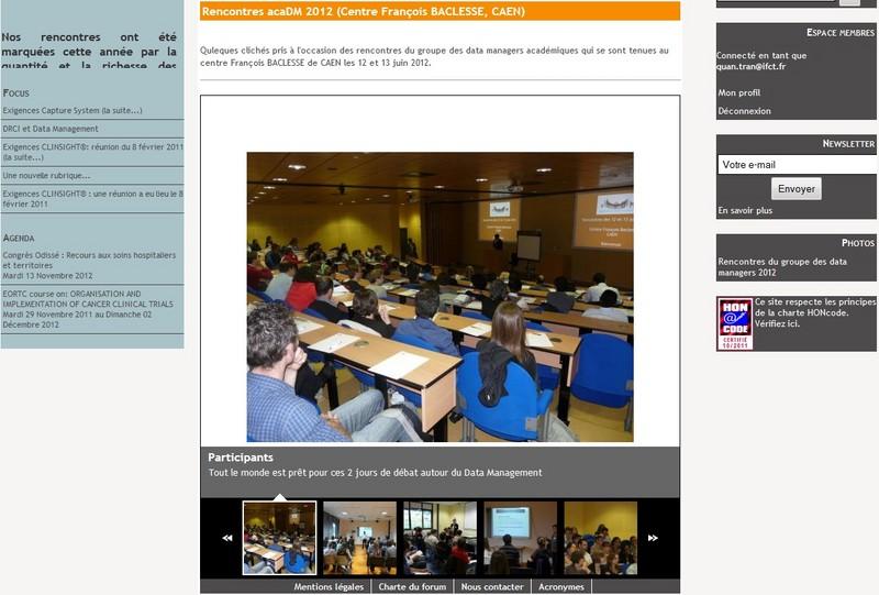 Rencontres acaDM 2012 (Centre François BACLESSE, CAEN)