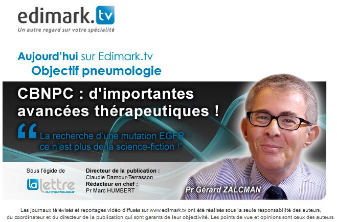 Edimark.tv : CBNPC : d'importantes avancées thérapeutiques !