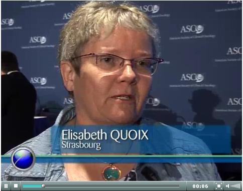 Medical Congress, ASCO 2010 - Vidéo d'Elisabeth Quoix