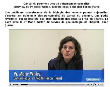 Doctissimo - Entretien Pr Marie Wislez