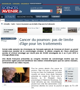 Revue Presse E. Quoix - ASCO 2010