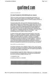 Quotidien du Médecin 16-02-2009