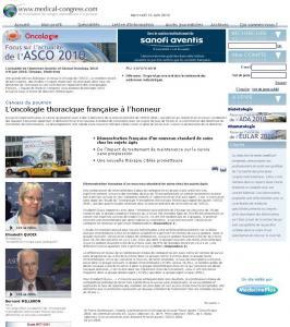 Medical Congress - ASCO 2010